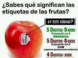 Cómo distinguir frutas orgánicas por su código de etiquetado