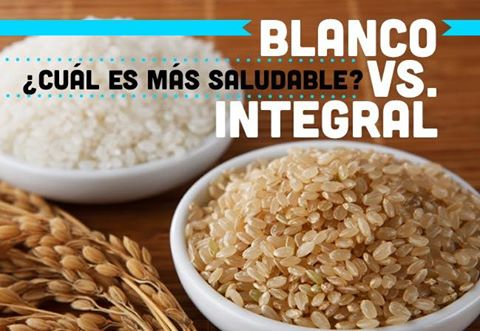 Arroz Blanco VS Arroz Integral - ¿Cuál es más saludable?